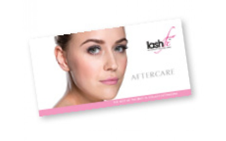 Lash Fx Aftercare Cards x 25