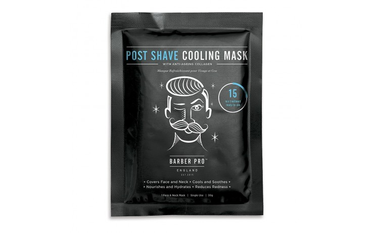 Beauty Pro Barber Pro Post Shave Cooling Mask - Single Sachet