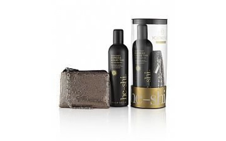He - Shi Express Tan with Party Purse Gift
